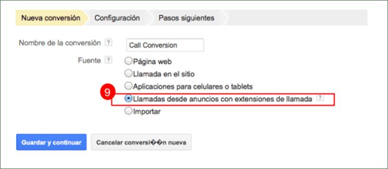 call-metrics-extension-configuracion